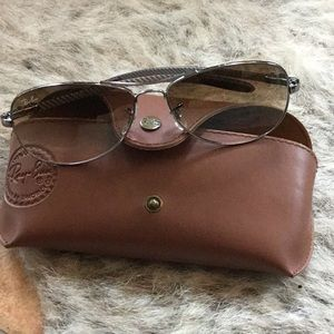 Ray Bans Silver Aviators worn 1x with case/cloth